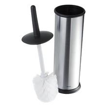 Escova Sanitária com Suporte Metal Cilíndrico Decorline Preta e Prata