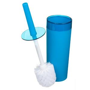 Escova Sanitária com Suporte Plástico Redondo Color Azul