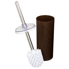 Escova Sanitária com Suporte Plástico e Fibras Naturais Cilíndrico Premium - Eco Madeira