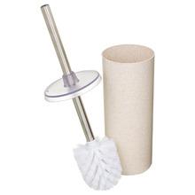 Escova Sanitária com Suporte Plástico e Fibras Naturais Cilíndrico Premium - Eco Marfim