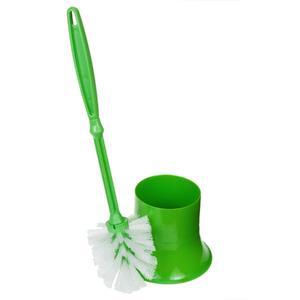 Escova Sanitária com Suporte Plástico Cilíndrico Solex Verde