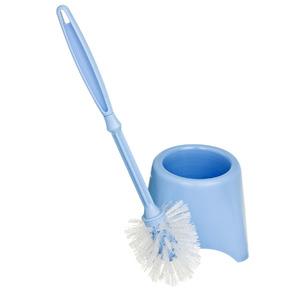 Escova Sanitária com Suporte Plástico Cilíndrico Toy Azul