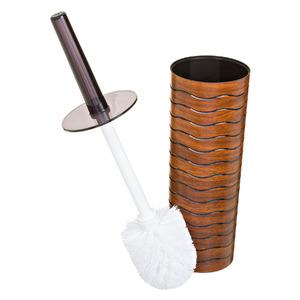 Escova Sanitária com Suporte Plástico Redondo Wave Marrom