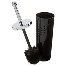 Escova Sanitária com Suporte Redondo Prata