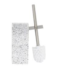 Escova Sanitária Pedra Quadrada  Branca Terrazo Sensea