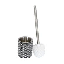 Escova Sanitária Preta em Metal Boheme Sensea