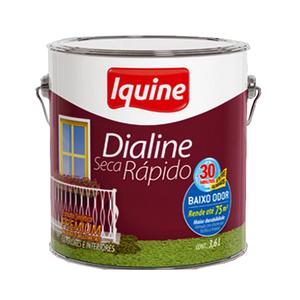 Esmalte Dialine Secagem Rápida Premium Brilhante Platina 3,6L