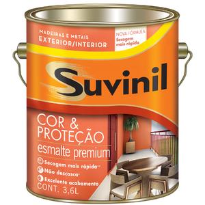 Esmalte Sintético Cor e Proteção Brilhante Preto 3,6L