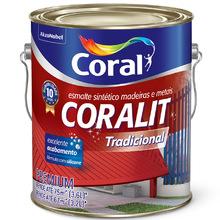Esmalte Sintético Coralit Tradicional Brilhante Marrom 3,6L