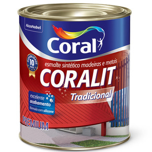 Esmalte Sintético Coralit Tradicional Fosco Preto 112,5ml