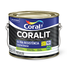 Esmalte Sintético Coralit Ultra Resist Cinza Médio 800ml Coral