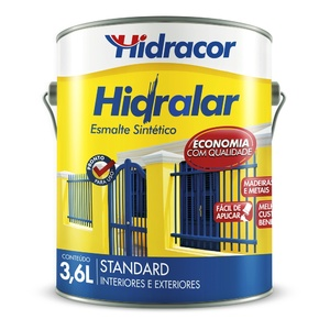 Esmalte Sintético Standard Hidralar Azul Mar 3,6L Hidracor