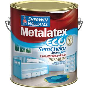 Esmalte Sintético Metalatex Eco Esmalte Acetinado Platina 3,6L
