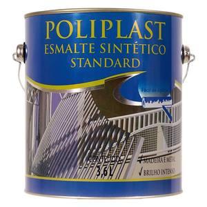 Esmalte Sintético Poliplast Standard Brilhante Alumínio 3,6L