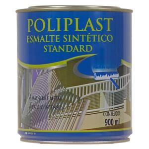 Esmalte Sintético Poliplast Standard Brilhante Alumínio 900ml