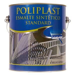 Esmalte Sintético Poliplast Standard Brilhante Cinza Escuro 3,6L