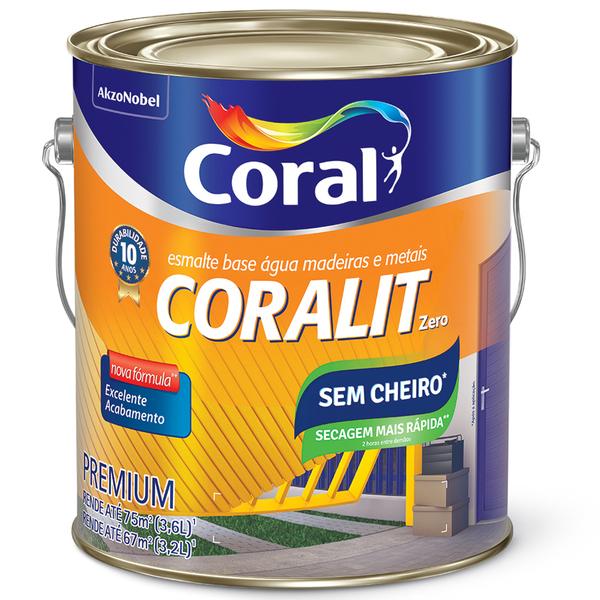 38e77338446 Esmalte Base Água Coralit Acetinado Branco 3,6L Coral | Leroy Merlin