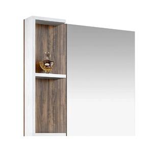 Espelheira de Banheiro Sem Luminária Ameixa/Branco 75x80cm Mezzaroba