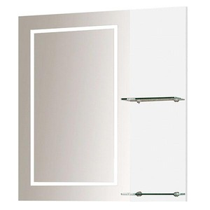 Espelheira de Banheiro Com Luminária Branca 64,1x60x18,5cm Gaam