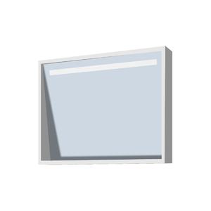 Espelheira de Banheiro sem Luminária Branco 60x49 Rome Gaam