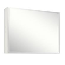 Espelheira de Banheiro Branco 60x80cm Savana Glass Gaam