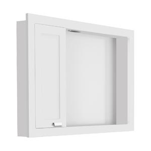 Espelheira de Banheiro com Luminária Branco 60x81 Argos Gaam