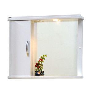 Espelheira de Banheiro com Luminária Branco 50x40 Naple Bonatto