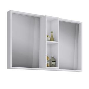 Espelheira de Banheiro sem Luminária Branco 62x100x12cm Sonora Darabas Agardi