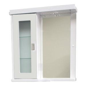 Espelheira de Banheiro Com Luminária Branco 65x61x14cm Bonatto