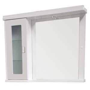 Espelheira de Banheiro Com Luminária Branco 65x81x14cm Bonatto