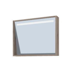 Espelheira de Banheiro sem Luminária Branco e Grigio 49x60 Rome Gaam