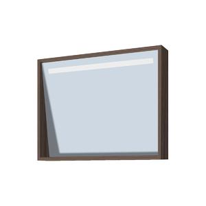 Espelheira de Banheiro sem Luminária Branco e Noce 49x60 Rome Gaam