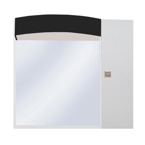 Espelheira de Banheiro Luxor 61x57x23cm Branco e Preto Sicmol