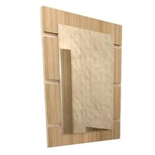 Espelheira de Banheiro Marsala 68x51x3cm Branco e Bege Mazzu