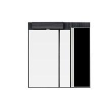 Espelheira de Banheiro Massimo 90x90x18,2cm Preto Mazzu