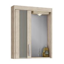 Espelheira de Banheiro com Luminária Mezzo Blanco 69x60x14cm Atacama Darabas Agardi