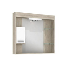 Espelheira de Banheiro Com Luminaria Mezzo Blanco 70x80x12 Napoli Darabras Agardi