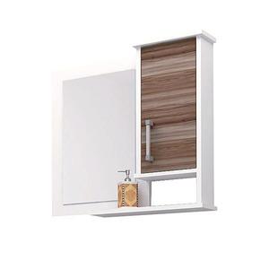 Espelheira de Banheiro Sem Luminária Nogal 60x58cm Mezzaroba