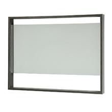 Espelheira de Banheiro sem Luminária Preto 60x60x7cm Morrice 60 Bergan