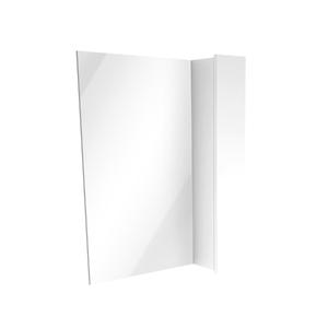 Espelheira de Banheiro Sisco 55x60cm Branco Laca Venturi