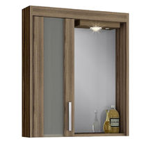 Espelheira de Banheiro com Luminária Terracota 69x60x14cm Atacama Darabas Agardi
