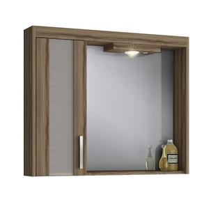 Espelheira de Banheiro com Luminária Terracota 69x80x14cm Atacama Darabas Agardi