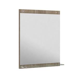 Espelheira Para Banheiro Montecarlo/Sanremo MDF Mezzo/Branco S/Luminária 52X62,5X3Cm Contemporânea Darabas