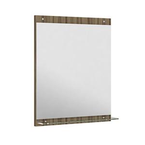 Espelheira Para Banheiro Montecarlo/Sanremo MDF Terracota/Branco S/Luminária 52X62,5X3Cm Contemporânea Darabas