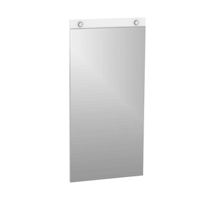 Espelheira para Banheiro Capri   90x45x2cm Branco Darabas Agardi