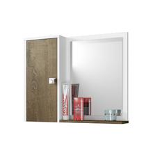Espelheira para Banheiro Dayene 46x35x10cm Branco|Madeira rústica Móveis Bechara
