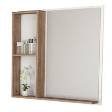 Espelheira para Banheiro Manacá 55x60x9cm Branco e Larnaca Cozimax