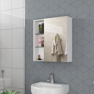 Espelheira para Banheiro Nancy 60x54x15,2cm Branco Móveis Bechara