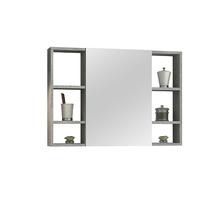 Espelheira para Banheiro Santorini 80  57x60x13,5cm Cimentício AstralDesign