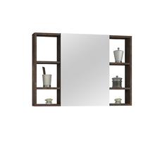 Espelheira para Banheiro Santorini 80  57x60x13,5cm Corten AstralDesign